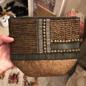 Urban Outfitters Beaded Leather Clutch